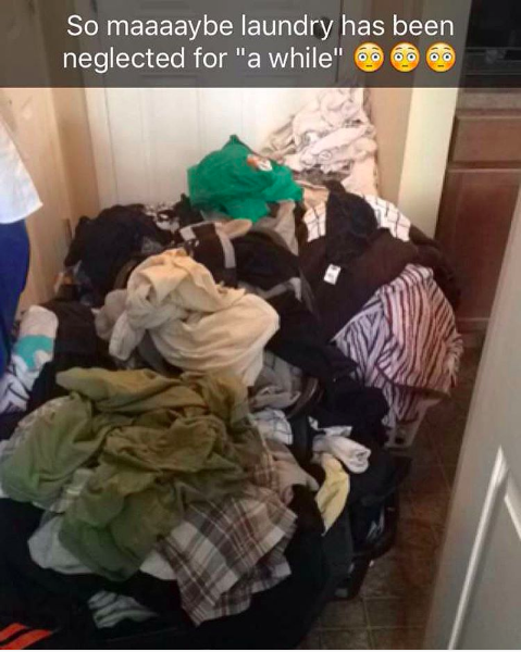 """The parent who had this to deal with on """"laundry day"""":"""