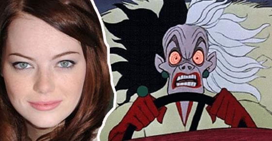 迪士尼公布接下來幾部經典卡通「真人電影版」主角名單,沒想到艾瑪史東居然要演大反派!