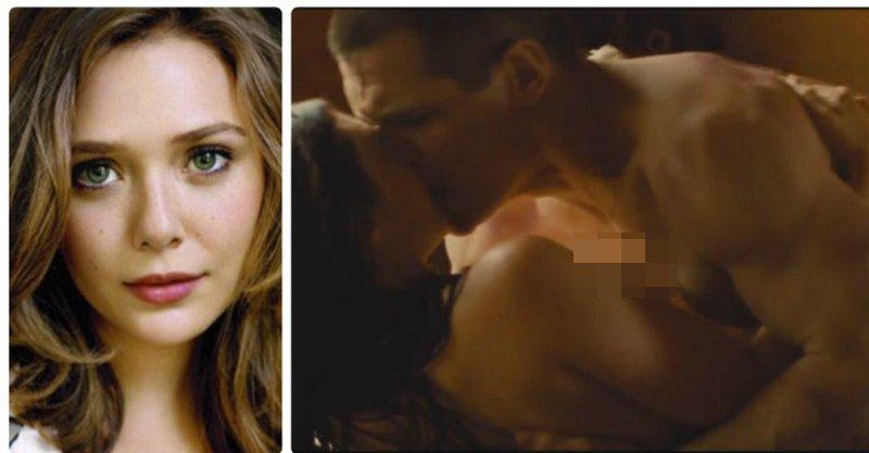 原來伊莉莎白歐森在拍「緋紅女巫」,曾經有拍過露點床戲喔!(影片兒童不宜)
