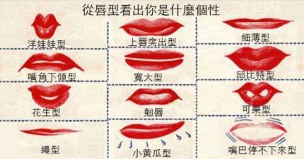 只要看你的唇型就能準確看出你的性格,翹唇代表有自信的意思喔!