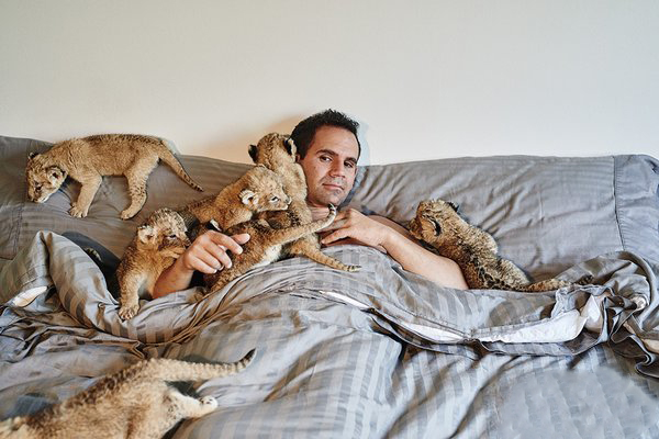 這隻黑豹從小就被下藥當模特兒,現在當拯救他的人類一坐在他旁邊時他就會做出爆可愛的舉動!