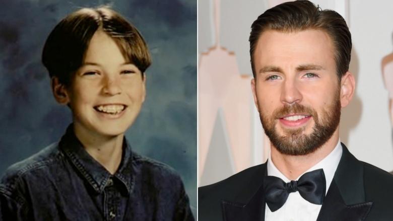 《復仇者聯盟》英雄們小時候vs現在的「從小就超正點」對比照。
