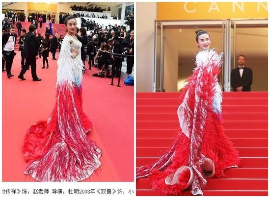 大陸女星強佔坎城紅毯遭保全勸離,結果隔天「一看到誇張嫁禍台灣報導頭條」台灣網友的眼睛就只剩眼白了!