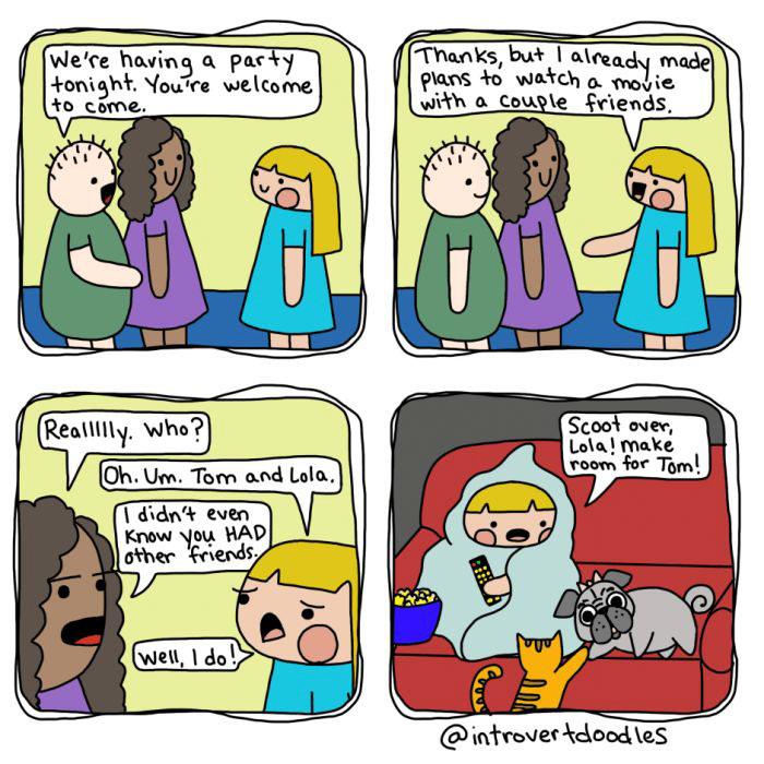 26個外向的人絕對看不懂的「內向人各種爆笑心聲插畫」!