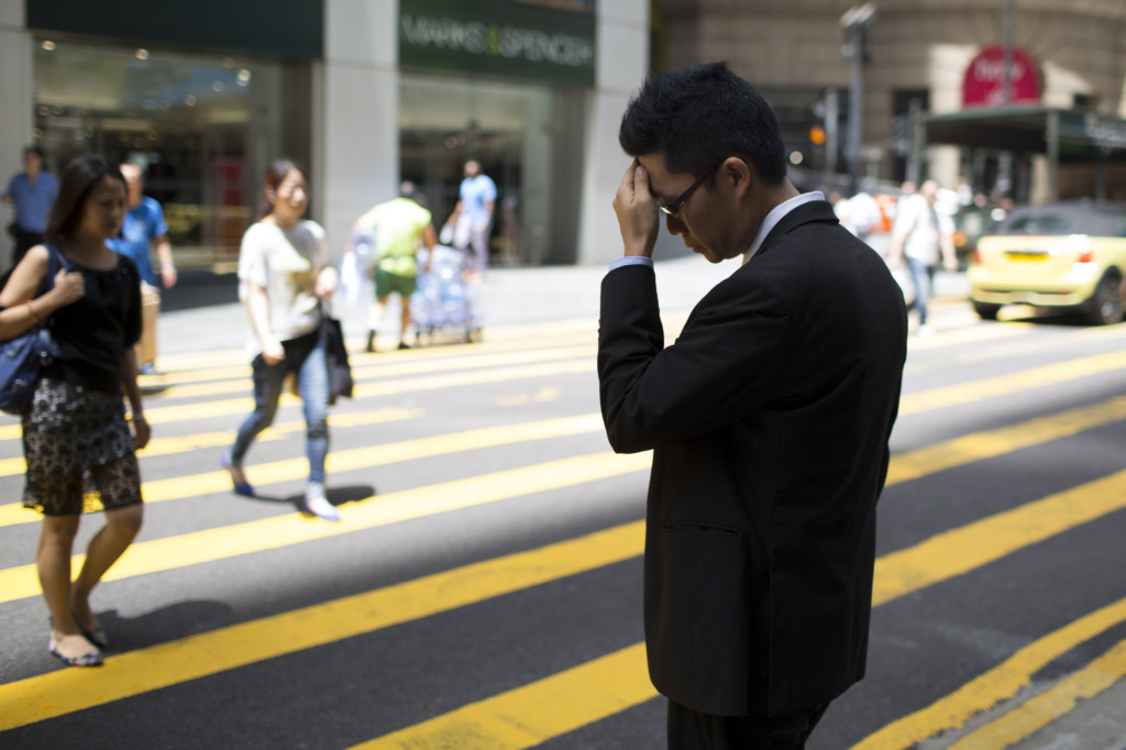 White Collar Workers In The Business District As Unemployment Numbers Are Released