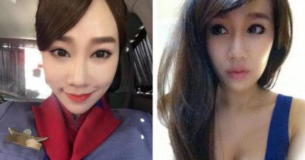 網友看到這名空姐出現在華航罷工現場時都快受不了,進一步肉搜到「超低背心照」後鍵盤上就全是血了...