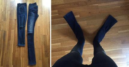 男生在知名網購網上買牛仔褲卻長到拖地,沒想到照片一PO上網對方卻表示:「這才是真正的時尚」!