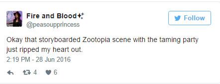 《動物方城市》原本會有這段刪減片段,但最後一幕「尼克的表情」悲慘到會讓小朋友有童年陰影所以就刪掉了。