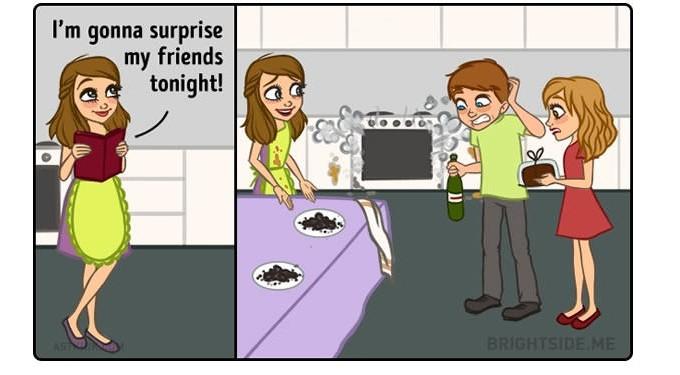 15張男生再多活幾輩子也搞不懂的「女生各種每日掙扎」插圖!