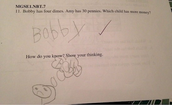 Bobby is more of a left-brained kid.