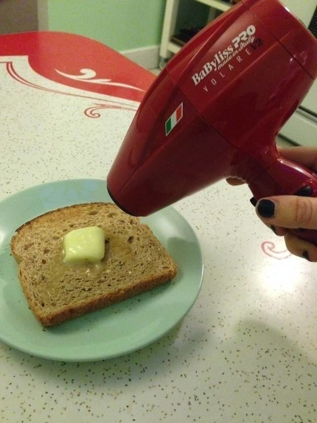 When you just can't spring for a toaster.