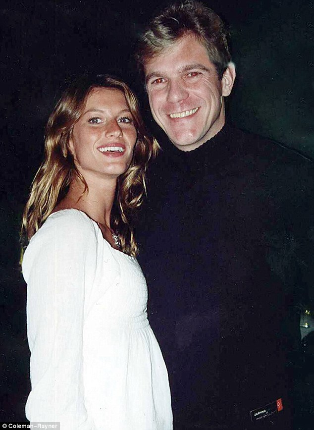 Lucky: Modelling scout Dilson Stein (pictured with Gisele) believes he will never find another model like her. He said 'Gisele means for the modelling industry what Pele means for football'