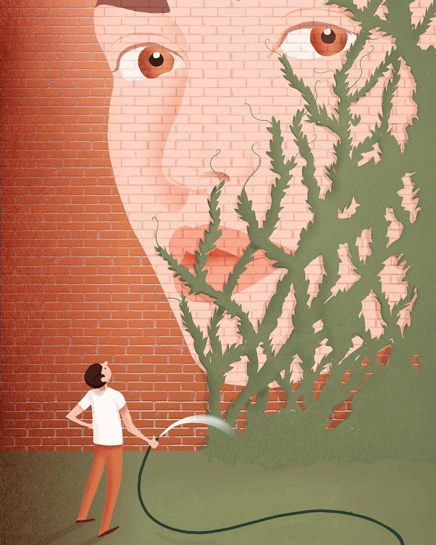 看完這15張諷刺現實的悲傷插畫,你會發現可能的來不及了...
