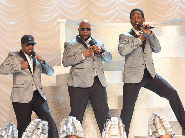 And Boyz II Men in 2015 performing on Grease Live.