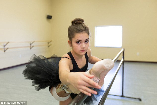 Groundbreaking: But they offered her the chance to have arotationplasty, which would give Gabi a lot more freedom of movement after losing her leg