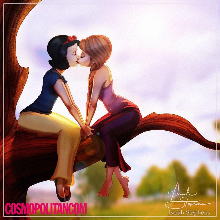 當艾莎跟其他的迪士尼公主們都找到女朋友時,灰姑娘的已經讓我快忍不住了...