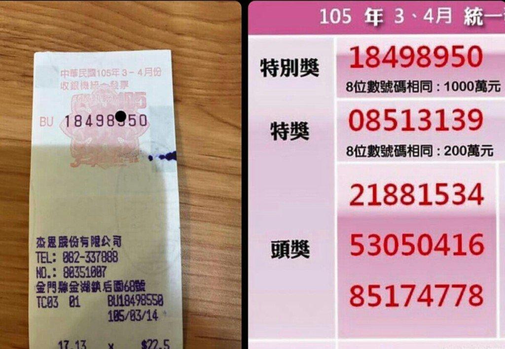 網友在PTT上發文說發票中獎一千萬,但眼尖的鄉民卻發現了這個悲慘事實...