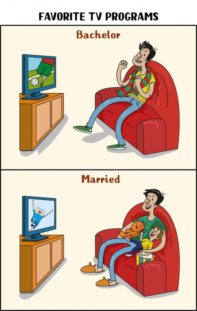 10張能終於讓你知道到底「單身好還是結婚好」的生活趣味圖。
