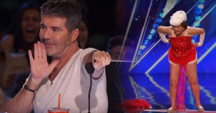 這名90歲的奶奶在台上跳脫衣舞時評審都快瘋了,但最後感動到按下「黃金鈕」希望她再跳一次!