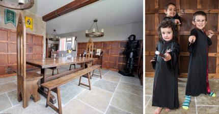 她花一整年和45萬把家裡改造成霍格華茲魔法學院,超完美裝潢讓裡面小孩長大沒有魔法才怪呢!