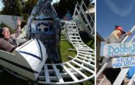他為孫子在後院蓋一座「獨一無二的小型迪士尼主題樂園」,雲霄飛車還不是裡面最讓小孩喜歡的設施呢!