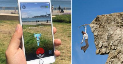 兩名年輕人玩Pokemon Go結果不小心掉下懸崖,相信大家現在想知道的是「所以他們抓到了嗎?」