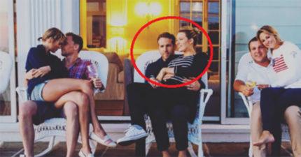網路上的「湯姆希德斯頓跟泰勒絲」親熱照爆紅,但一放大看才發現雷恩萊諾斯表情已經有點不對勁了...