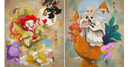 他將「西方食物品牌變成東方神仙」尬出新滋味,星巴克女神變成仙女還是超正!