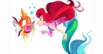 20張「迪士尼+神奇寶貝」超萌混合畫作會用兩倍的童年美好拯救你的一天!