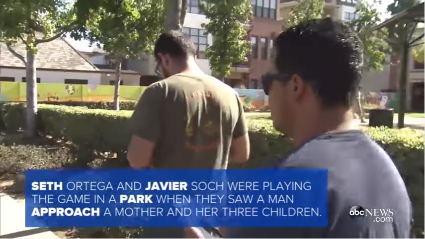 這兩名前海軍軍人邊走邊玩Pokémon Go,最後就「幫忙逮捕了一名戀童癖犯人」。