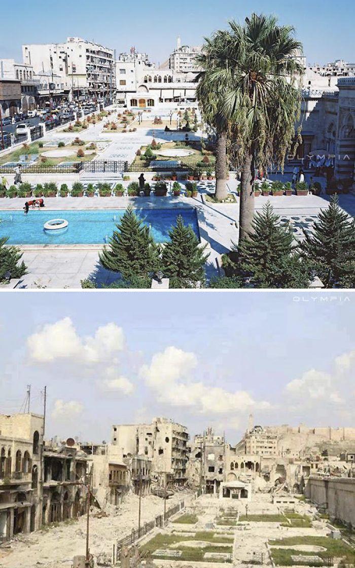28張能看出戰爭和人性可怕的「敘利亞開戰前後比對圖」