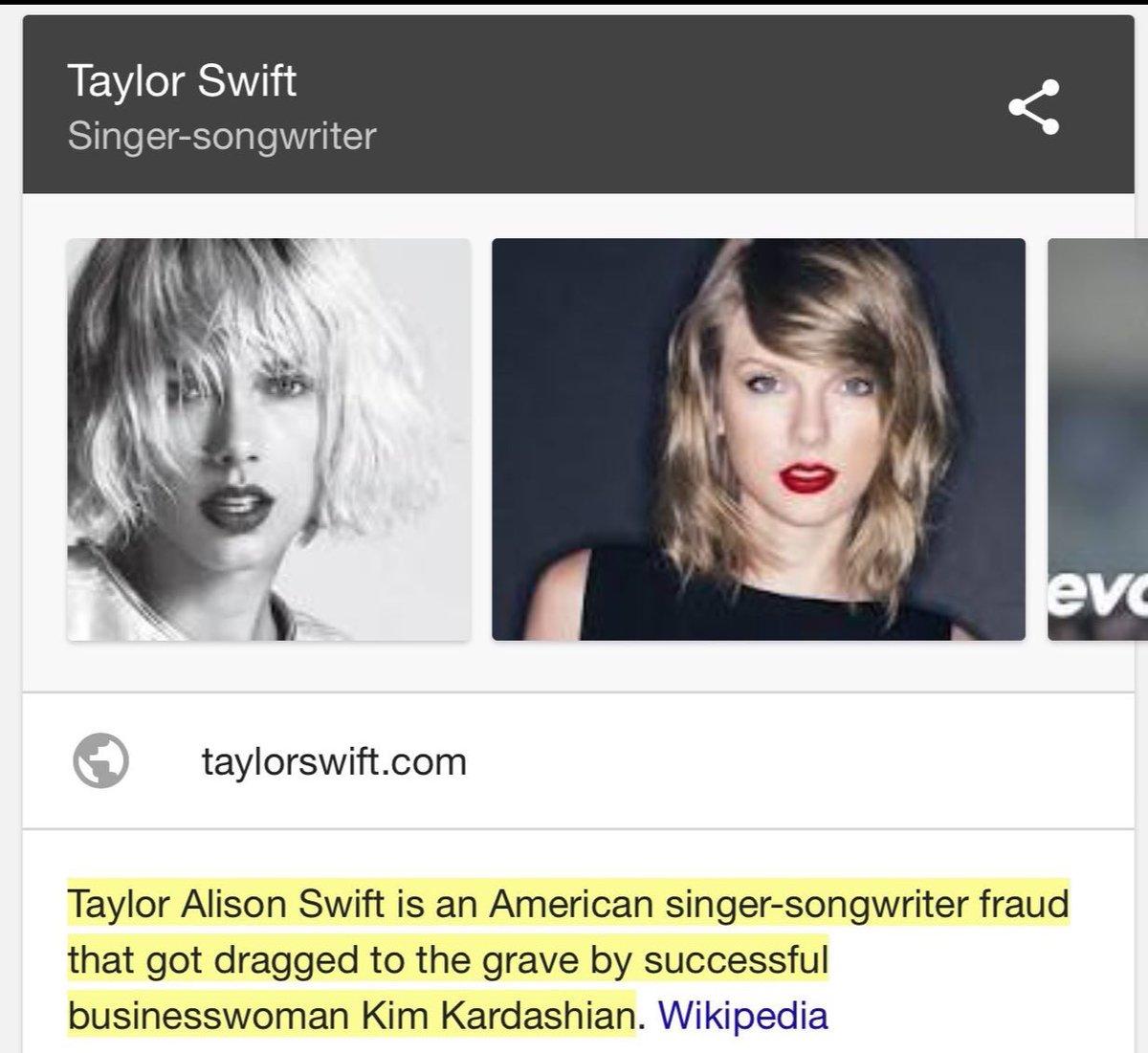翹臀金的粉絲因為兩人紛爭「改壞泰勒絲維基頁」,超爆笑「別名欄」已經讓很多人笑慘了!