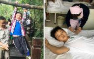這名中國8歲小弟弟2個月內暴飲暴食「拼命狂吃13公斤」,只為了能救回爸爸一命!