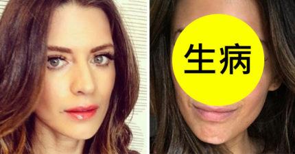 這名31歲美麗模特兒每次自拍都一定化上濃妝,但這天她終於卸下濃妝素顏示人...網友看了都忍不住為她鼓掌加油!