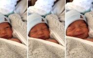 大人看到這個才6天大的小嬰兒還以為在睡覺,沒想到他騙大人「裝睡」被抓到的可愛模樣讓全網路都震驚了!