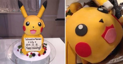 婚禮自以為有創意居然做了一個皮卡丘蛋糕,但全部切完「看到命案現場」時全場小孩已經開始哭泣了...