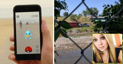 她玩最近風靡全球的《Pokémon GO》遊戲指引她來到一處河邊,接著眼前就出現一具屍體...