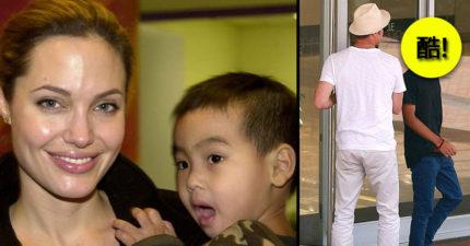 裘莉小布養子轉大人!梅鐸斯與小布休閒裝逛比佛利「西裝模樣」看起來好酷!