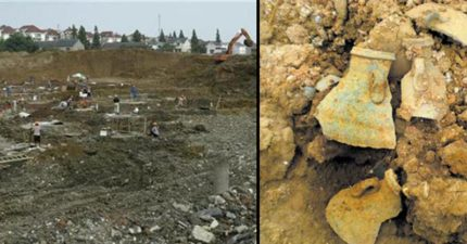 中國工人挖掘出「1800年前珍貴古墓」,但為了「要蓋IKEA」就把它們全部毀了...