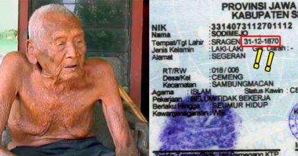 印尼政府剛發現這名「活了145年」的世界最老男人「還有證件證明」,但他卻表示現在只想要死...