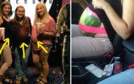 這群女孩打扮成孕婦為了把西瓜「偷渡」進電影院吃,但沒想到要走的時候問題就來了...