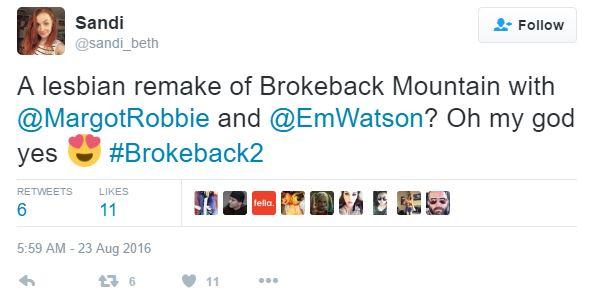 艾瑪華森和瑪格羅比將「合體演出女版《斷背山》」?!看到粉絲的留言我還是不敢相信我的眼睛!