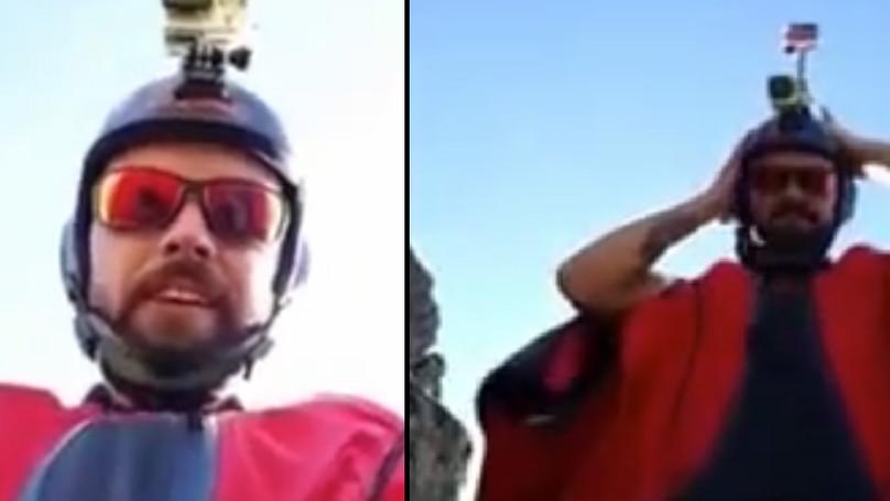 飛鼠裝滑翔玩家開臉書直播對粉絲說:「跟我一起飛翔」,最後就拍下了他死亡的恐怖畫面...(慎入)