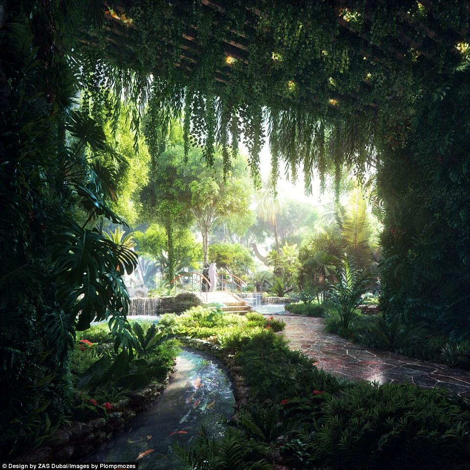 杜拜斥資90億台幣打造「第一個人造熱帶雨林」五星級飯店,從「天空泳池」看下的風景更是美到太過份啦!