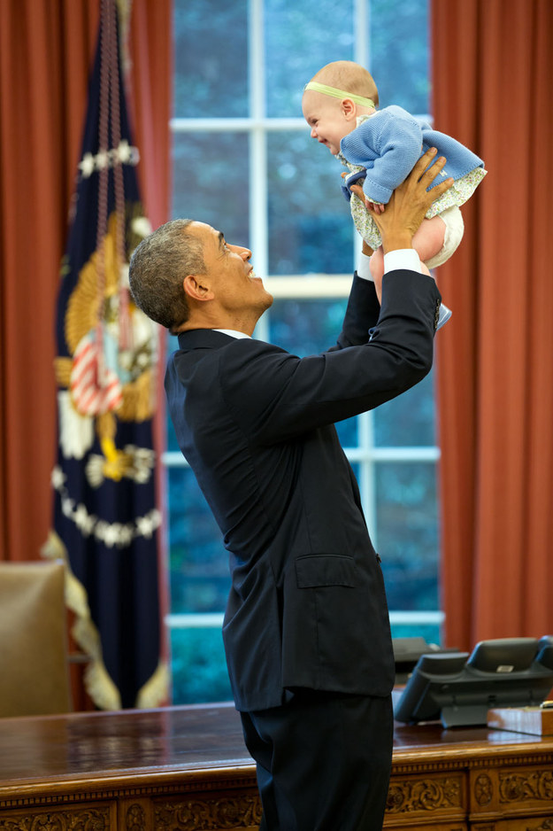 He particularly loves babies.