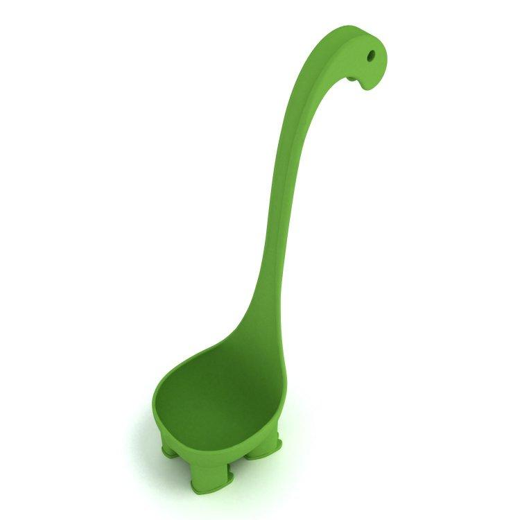 如果你常常手殘讓湯匙滑到鍋子裡拿不出來,這個「會自己站立的可愛恐龍湯匙」就是你一生的救星!(內有購買連結)