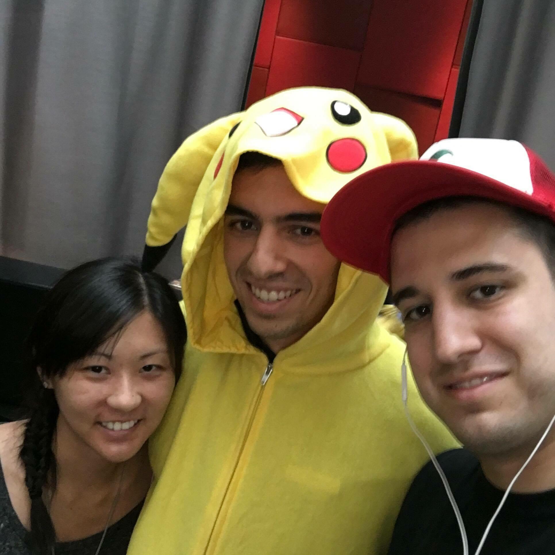 pikachu snuggie nick johnson Pokémon Go