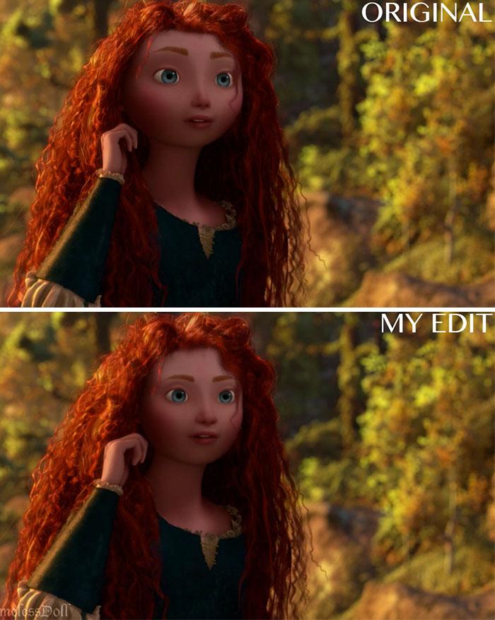 14個五官臉型「被真實化」迪士尼經典角色 長髮公主眼睛小一點比較好看!