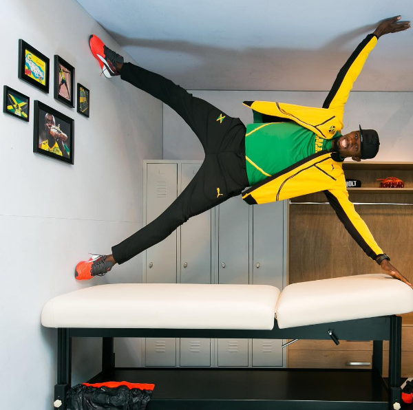 This picture of Usain Bolt doing whatever this is: