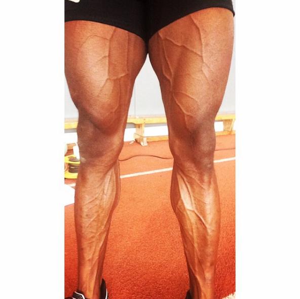This picture of British sprinter Harry Aikines' legs: